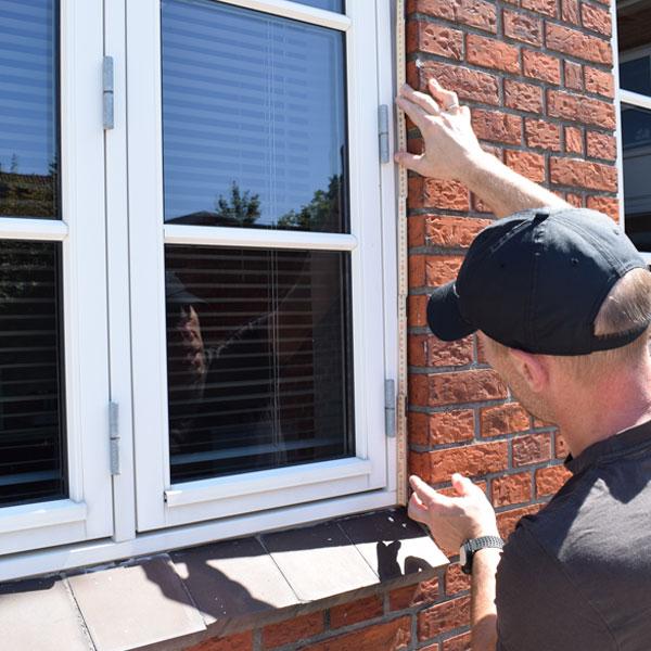 opmåling vinduer døre