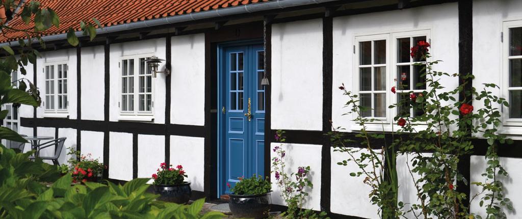 bondehus vinduer med sprosser